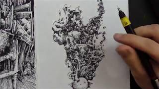 The Colour Out of Space ~ H. P. Lovecraft (Audiobook & Drawing)