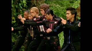 Power Rangers Operation Overdrive - Just Like Me - Unmorphed Fight (Episode 16)