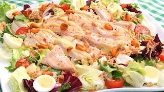 Receta de Ensalada de Pollo Fría | Súper Fácil y Deliciosa