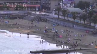 アタミラプス:夕方のサンビーチ(2015.8.2217時〜