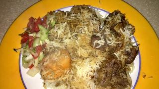 Kacchi Biriyani with beef. কয়লা দিয়ে পুড়া ঘি এর সুগন্ধে রান্না বিরিয়ানি ।