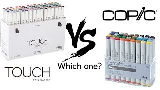 Touch Markers vs Copic Markers