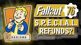 FALLOUT 76: Does Fallout 76 NEED S.P.E.C.I.A.L. Point and Perk Card Refunds?? (Character Respec)
