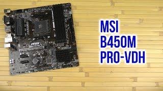 Распаковка MSI B450M Pro-VDH