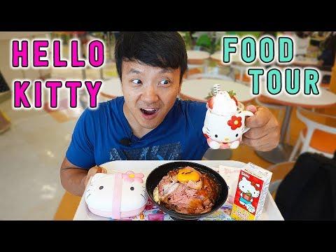 HELLO KITTY Food Tour of Sanrio Puroland in Tokyo Japan