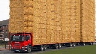 World Amazing Hay Bale Handling Modern Agriculture Equipment Mega Machines Tractor, Harvester, Truck