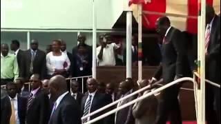 BBC News   Zimbabwe leader Robert Mugabe s stumble caught on camera