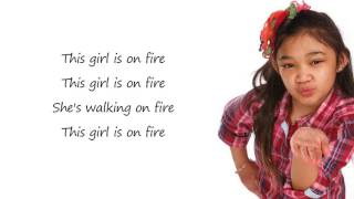 Angelica  Hale - Girl On Fire / Lyrics (America's Got Talent)