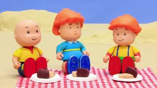 NEW! CAMPING | Funny Animated cartoons Kids | WATCH ONLINE | Caillou Stop Motion | Cartoon movie