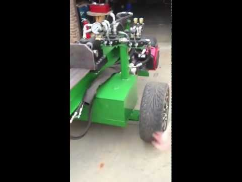 Huge Homemade Wood Splitter with Auto Cycle Valve and Dump Valve