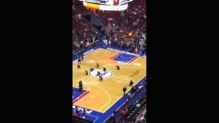 Performance at Seventy Sixers game December 9, 2013 Pt. 1