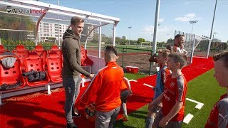 Rob Holding meets our next generation of talent