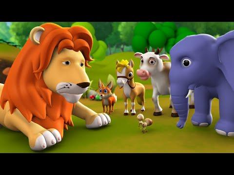 Xxx Mp4 Jungle Ka Raja Sher 3D Animated Hindi Moral Stories For Kids Tales Lion King 3gp Sex