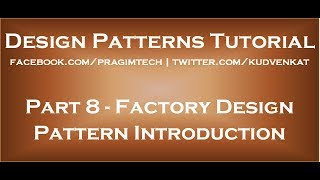 Factory Design Pattern Introduction