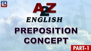 PREPOSITION CONCEPT | A TO Z | PART 1 | ENGLISH | ALL COMPETITIVE EXAMS
