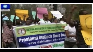 Kaduna Protest: Polytechnic Students Take To Street Over Lecturer