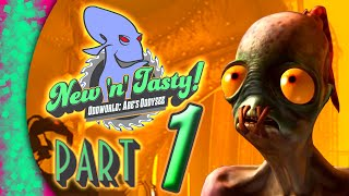 Oddworld: New 'n' Tasty Abe's Oddysee HARD MODE! Gameplay Walkthrough Part 1 - Review (PS4)