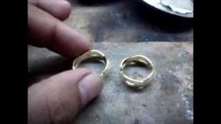JEWELRY CUSTOMIZER (Video 5) Making of 14 karats Infinity couple ring (Show More below)