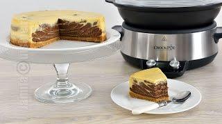 Cheesecake cu ciocolata facut la Crock-Pot (CC Eng Sub)   JamilaCuisine
