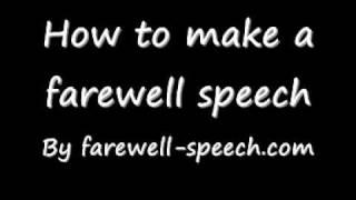 How to Write a Farewell Speech