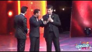 Exclusive video of Salman Khan interaction with karan johar at AIBA Awards 2015