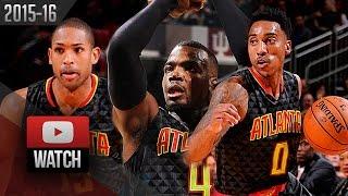 Jeff Teague, Paul Millsap & Al Horford Trio Highlights at Rockets (2015.12.29) - TOO GOOD!