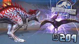 VALKRYIE 77 PTERANODON ATTACKS!! + MAXED ANKYLODOCUS HYBRID!    Jurassic World - The Game - Ep204 HD