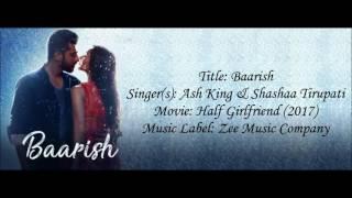 Baarish Half Girlfriend lyrical video with English translation