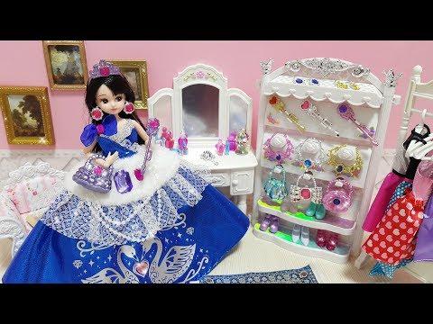 Barbie Princess Bedroom Morning Routine Dress up Putri boneka Barbie Kamar Tidur Princesa Quarto