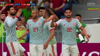 PS4 FIFA 18 Gameplay Portugal vs Spain [HD]