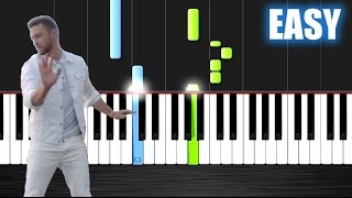 Justin Timberlake - Can't Stop The Feeling - EASY Piano Tutorial by PlutaX