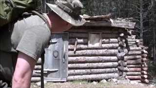 3 days/19th Century Trappers Cabin Qc Canada (1/2)