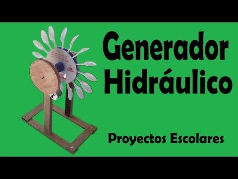 Proyectos Generador Hidráulico De Energía Eléctrica muy fácil de hacer
