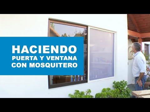 ¿Cómo hacer una puerta y ventana con mosquitero