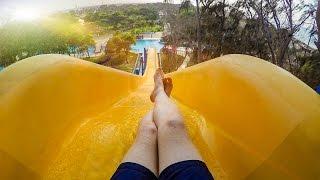 Dreamland Aqua Park - Yellow Kamikaze Waterslide Onride POV