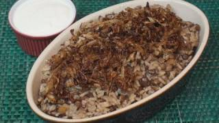 Mujaddara Recipe (Lentils & Rice)