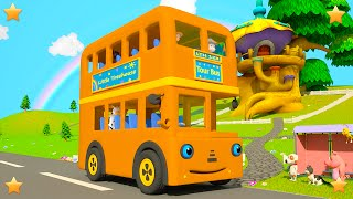 Orange Wheels On The Bus | Kindergarten Nursery Rhymes & Songs for Kids | Little Treehouse S03E97