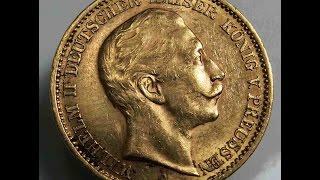 German Reich 20 Mark 1909 A Prussia Preussen Deutsches Reich Gold Coin