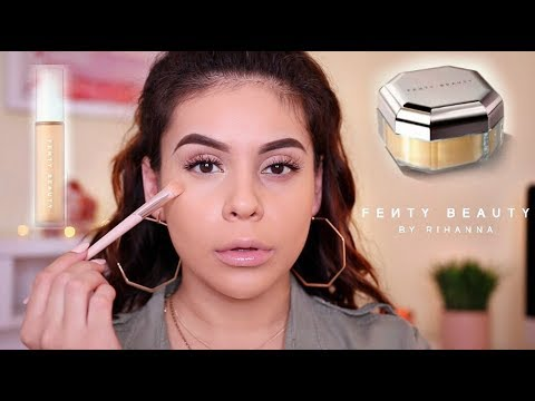 NEW FENTY BEAUTY PRO FILTER CONCEALER SETTING POWDER FIRST IMPRESSION & WEAR TEST JuicyJas