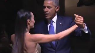 رقص تانگوی باراک اوباما در آرژانتین