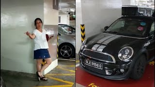 aunty staying at blk860 jurong west st 81 hog family lot. and inconsiderate parking in her mini