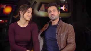 Chloe Bennet And Brett Dalton Celebrating 50 Episodes of Marvel Agents of Shield