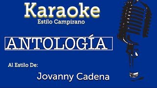 Antologia - Karaoke - Jovanny Cadena