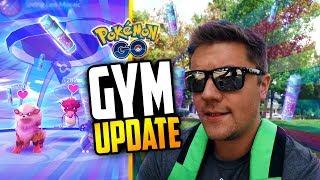 Pokemon Go - GYM UPDATE! (NEW Pokemon Go Gyms Gameplay!)