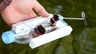 How To Make A Simple Boat | Powered Bottle Boat DIY