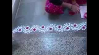 Colorful Border Rangoli Designs 8