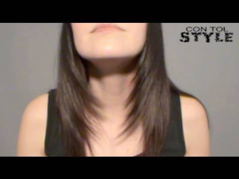 Desfilar el Cabello How to trim your hair diagonally