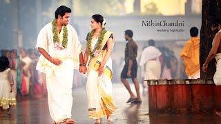 Kerala Hindu Wedding Highlights   Nithin Chandni