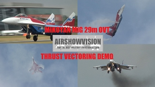 MIKOYAN MIG 29M OVT Vectored Thrust Demo - Farnborough (airshowvision)