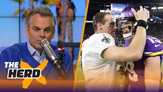 Colin reacts to the Minnesota Vikings beating Drew Brees and the Saints on Sunday | THE HERD